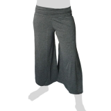 Sabaai Fabric - Calf-Length Flare Pants - dark grey
