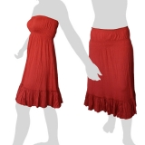 Sabaai Fabric - Skirt & Dress - Two in One - red