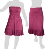 Sabaai Fabric - Skirt & Dress - Two in One - dark violet