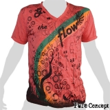 Pure Concept T-Shirt - Rainbow Fantasy (dark red)